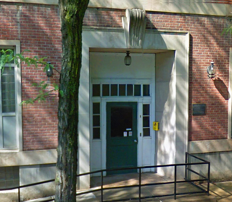 The entrance to the Ricketts Hall
